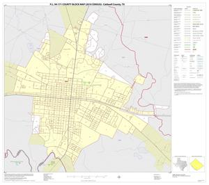 Primary view of object titled 'P.L. 94-171 County Block Map (2010 Census): Caldwell County, Inset C01'.