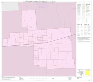 Primary view of object titled 'P.L. 94-171 County Block Map (2010 Census): Lamar County, Inset E01'.