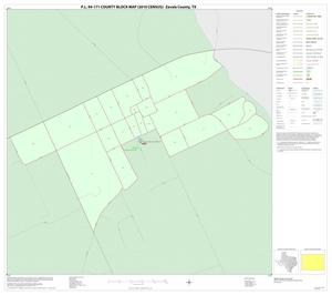 Primary view of object titled 'P.L. 94-171 County Block Map (2010 Census): Zavala County, Inset B01'.