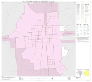 Primary view of object titled 'P.L. 94-171 County Block Map (2010 Census): Polk County, Inset A01'.