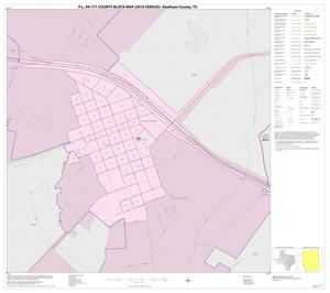 Primary view of object titled 'P.L. 94-171 County Block Map (2010 Census): Kaufman County, Inset F01'.