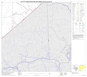 Primary view of object titled 'P.L. 94-171 County Block Map (2010 Census): Houston County, Block 22'.