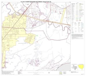 Primary view of object titled 'P.L. 94-171 County Block Map (2010 Census): Orange County, Block 22'.