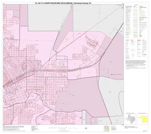 Primary view of object titled 'P.L. 94-171 County Block Map (2010 Census): Tom Green County, Inset E02'.