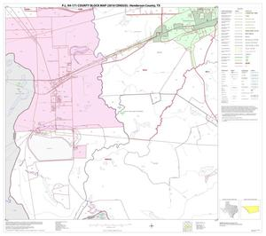Primary view of object titled 'P.L. 94-171 County Block Map (2010 Census): Henderson County, Block 19'.