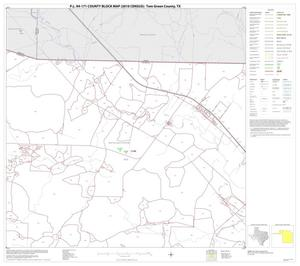 Primary view of object titled 'P.L. 94-171 County Block Map (2010 Census): Tom Green County, Block 2'.