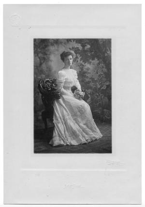 Primary view of object titled '[Portrait of Mrs. Virgile Paddock Pitner]'.