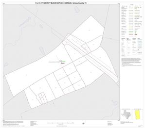 Primary view of object titled 'P.L. 94-171 County Block Map (2010 Census): Grimes County, Inset C01'.