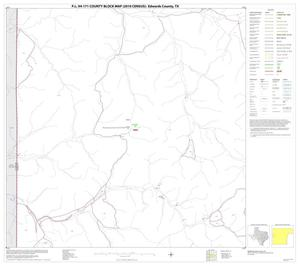 Primary view of object titled 'P.L. 94-171 County Block Map (2010 Census): Edwards County, Block 15'.