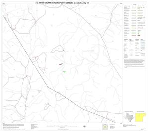 Primary view of object titled 'P.L. 94-171 County Block Map (2010 Census): Edwards County, Block 10'.