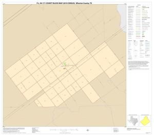 Primary view of object titled 'P.L. 94-171 County Block Map (2010 Census): Wharton County, Inset F01'.