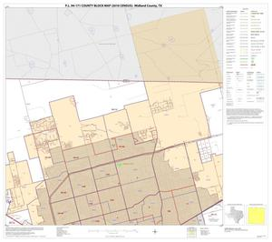 Primary view of object titled 'P.L. 94-171 County Block Map (2010 Census): Midland County, Block 2'.