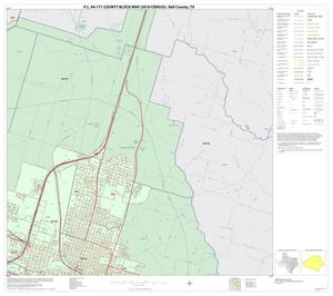 Primary view of object titled 'P.L. 94-171 County Block Map (2010 Census): Bell County, Inset H02'.