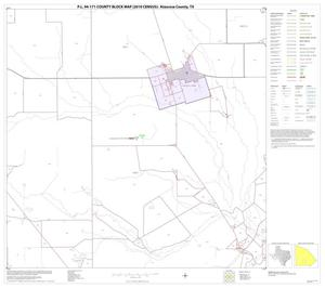 Primary view of object titled 'P.L. 94-171 County Block Map (2010 Census): Atascosa County, Block 21'.
