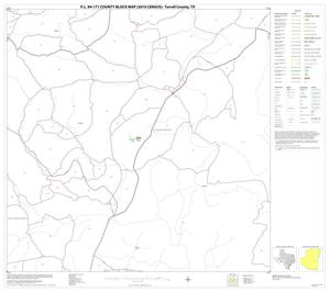 Primary view of object titled 'P.L. 94-171 County Block Map (2010 Census): Terrell County, Block 11'.
