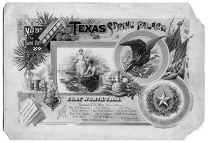 Primary view of object titled '[Texas Spring Palace Invitation]'.