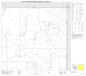 Primary view of object titled 'P.L. 94-171 County Block Map (2010 Census): Garza County, Block 3'.
