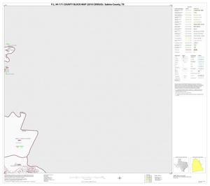 Primary view of object titled 'P.L. 94-171 County Block Map (2010 Census): Sabine County, Block 5'.