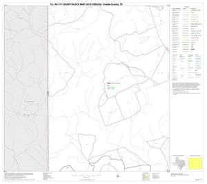 Primary view of object titled 'P.L. 94-171 County Block Map (2010 Census): Uvalde County, Block 13'.
