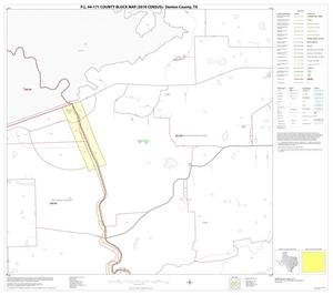 Primary view of object titled 'P.L. 94-171 County Block Map (2010 Census): Denton County, Block 17'.