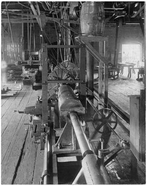Primary view of object titled '[Lumber Mill shop]'.