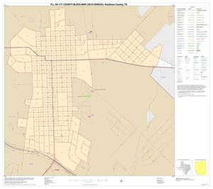 Primary view of object titled 'P.L. 94-171 County Block Map (2010 Census): Kaufman County, Inset G01'.