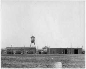 Primary view of object titled '[Interurban Limited Car Barns]'.