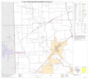 Primary view of object titled 'P.L. 94-171 County Block Map (2010 Census): Hunt County, Block 13'.