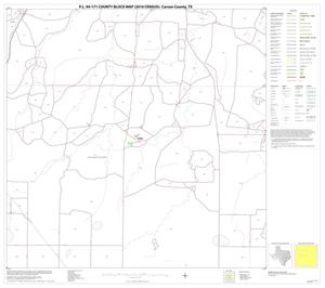 Primary view of object titled 'P.L. 94-171 County Block Map (2010 Census): Carson County, Block 6'.