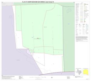 Primary view of object titled 'P.L. 94-171 County Block Map (2010 Census): Lamar County, Inset D01'.