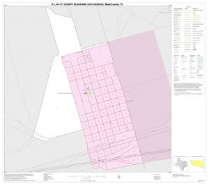 Primary view of object titled 'P.L. 94-171 County Block Map (2010 Census): Ward County, Inset A01'.