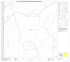 Primary view of object titled 'P.L. 94-171 County Block Map (2010 Census): Edwards County, Block 27'.