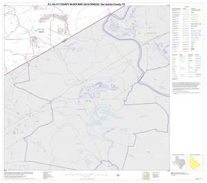 Primary view of object titled 'P.L. 94-171 County Block Map (2010 Census): San Jacinto County, Block 14'.