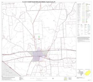Primary view of object titled 'P.L. 94-171 County Block Map (2010 Census): Fayette County, Block 15'.
