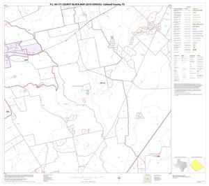Primary view of object titled 'P.L. 94-171 County Block Map (2010 Census): Caldwell County, Block 10'.