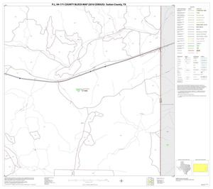 Primary view of object titled 'P.L. 94-171 County Block Map (2010 Census): Sutton County, Block 18'.