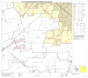 Primary view of object titled 'P.L. 94-171 County Block Map (2010 Census): Taylor County, Block 7'.