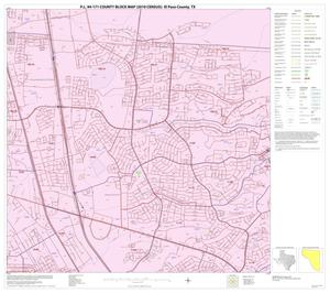 Primary view of object titled 'P.L. 94-171 County Block Map (2010 Census): El Paso County, Block 22'.