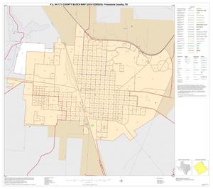 Primary view of object titled 'P.L. 94-171 County Block Map (2010 Census): Freestone County, Inset E01'.
