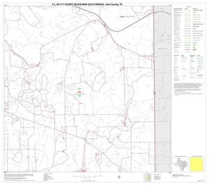 Primary view of object titled 'P.L. 94-171 County Block Map (2010 Census): Jack County, Block 16'.