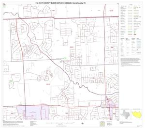 Primary view of object titled 'P.L. 94-171 County Block Map (2010 Census): Harris County, Block 169'.