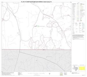 Primary view of object titled 'P.L. 94-171 County Block Map (2010 Census): Sutton County, Block 21'.