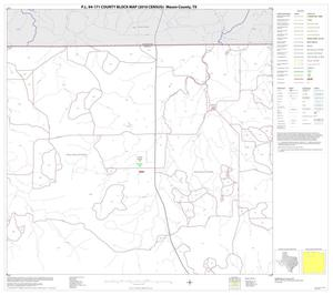 Primary view of object titled 'P.L. 94-171 County Block Map (2010 Census): Mason County, Block 2'.