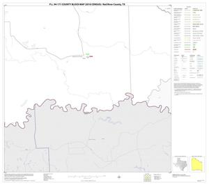 Primary view of object titled 'P.L. 94-171 County Block Map (2010 Census): Red River County, Block 35'.