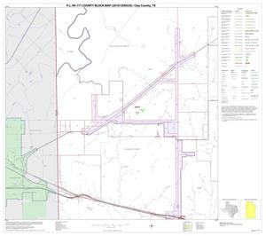 Primary view of object titled 'P.L. 94-171 County Block Map (2010 Census): Clay County, Block 8'.