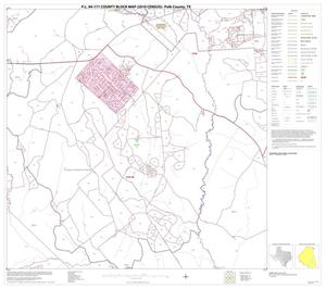 Primary view of object titled 'P.L. 94-171 County Block Map (2010 Census): Polk County, Block 21'.