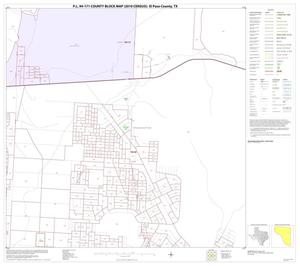 Primary view of object titled 'P.L. 94-171 County Block Map (2010 Census): El Paso County, Block 39'.