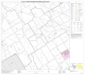 Primary view of object titled 'P.L. 94-171 County Block Map (2010 Census): Hill County, Block 16'.