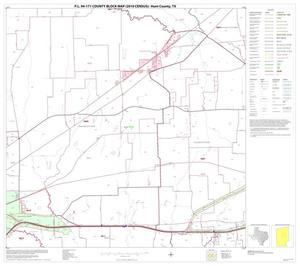 Primary view of object titled 'P.L. 94-171 County Block Map (2010 Census): Hunt County, Block 11'.