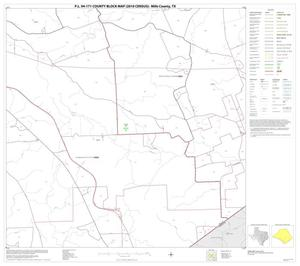 Primary view of object titled 'P.L. 94-171 County Block Map (2010 Census): Mills County, Block 12'.
